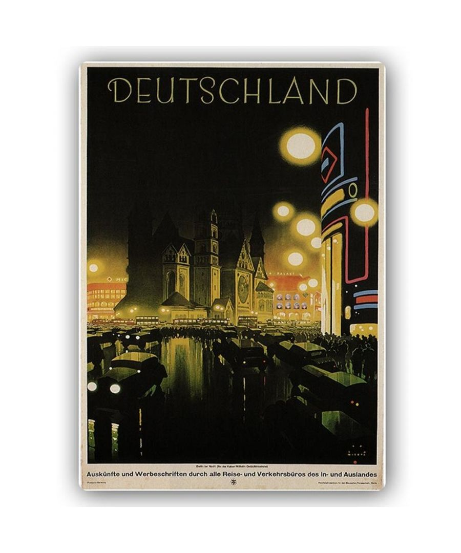 Image for Vintage Tourist Poster - Metal Print  - Deutschland