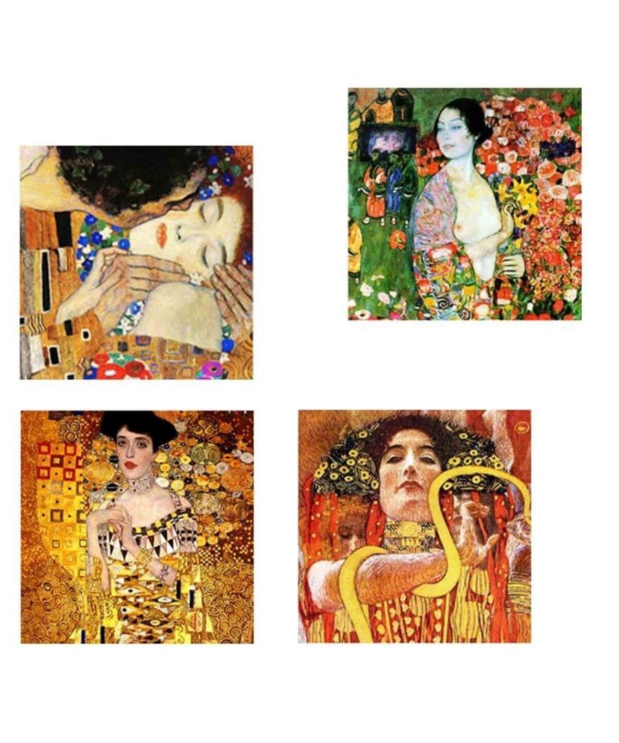 Image for Canvas Print - Klimt Paintings - Composition 2 Cm. 50x50 (4 Panels)