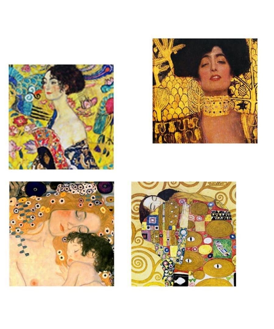 Image for Canvas Print - Klimt Paintings - Composition 3 Cm. 50x50 (4 Panels)
