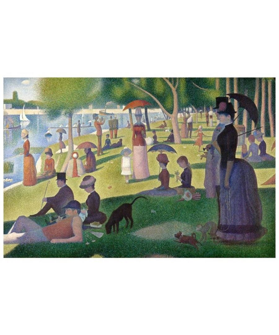 Image for Canvas Print - A Sunday On La Grande Jatte - Georges Seurat Cm. 80x120