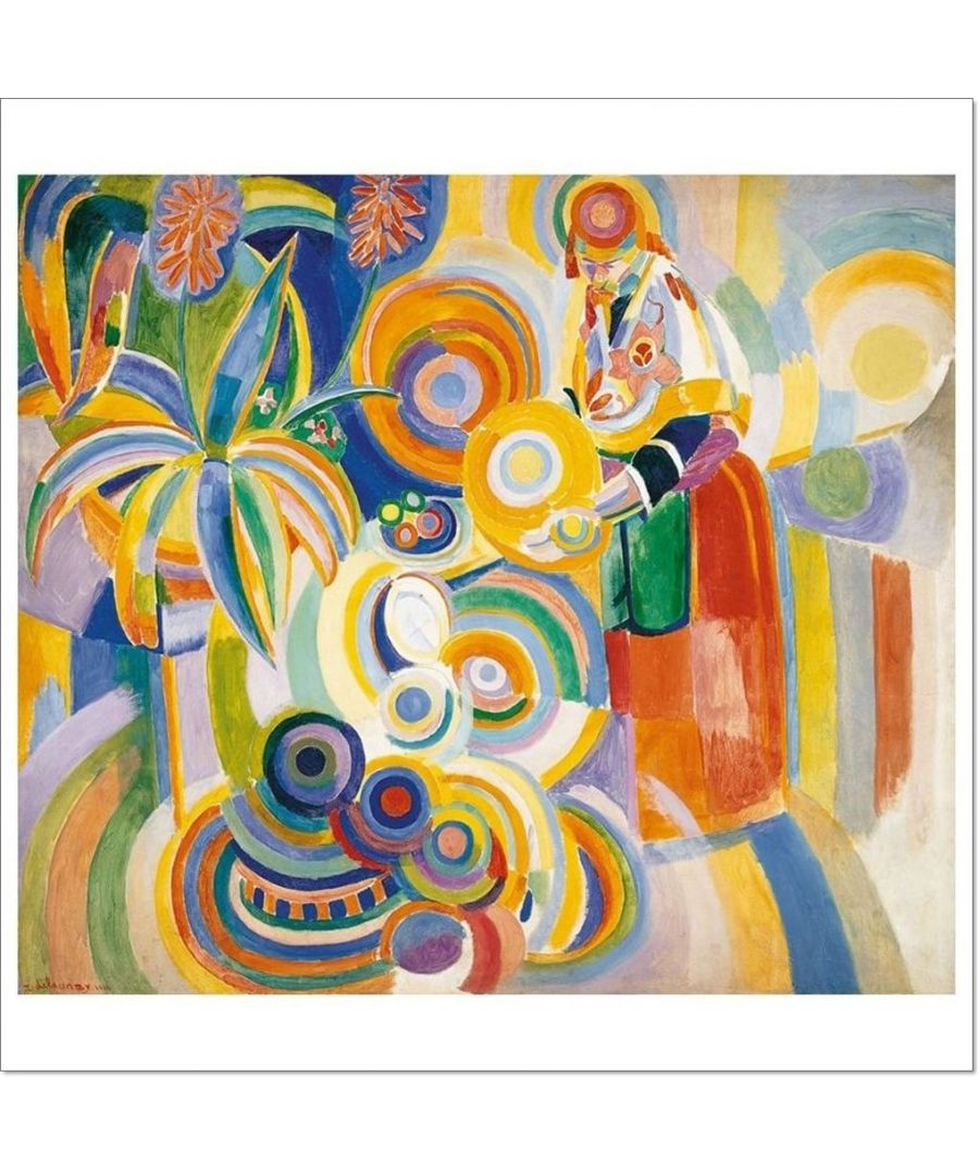Image for Canvas Print - Portuguese Woman - Robert Delaunay Cm. 55X60