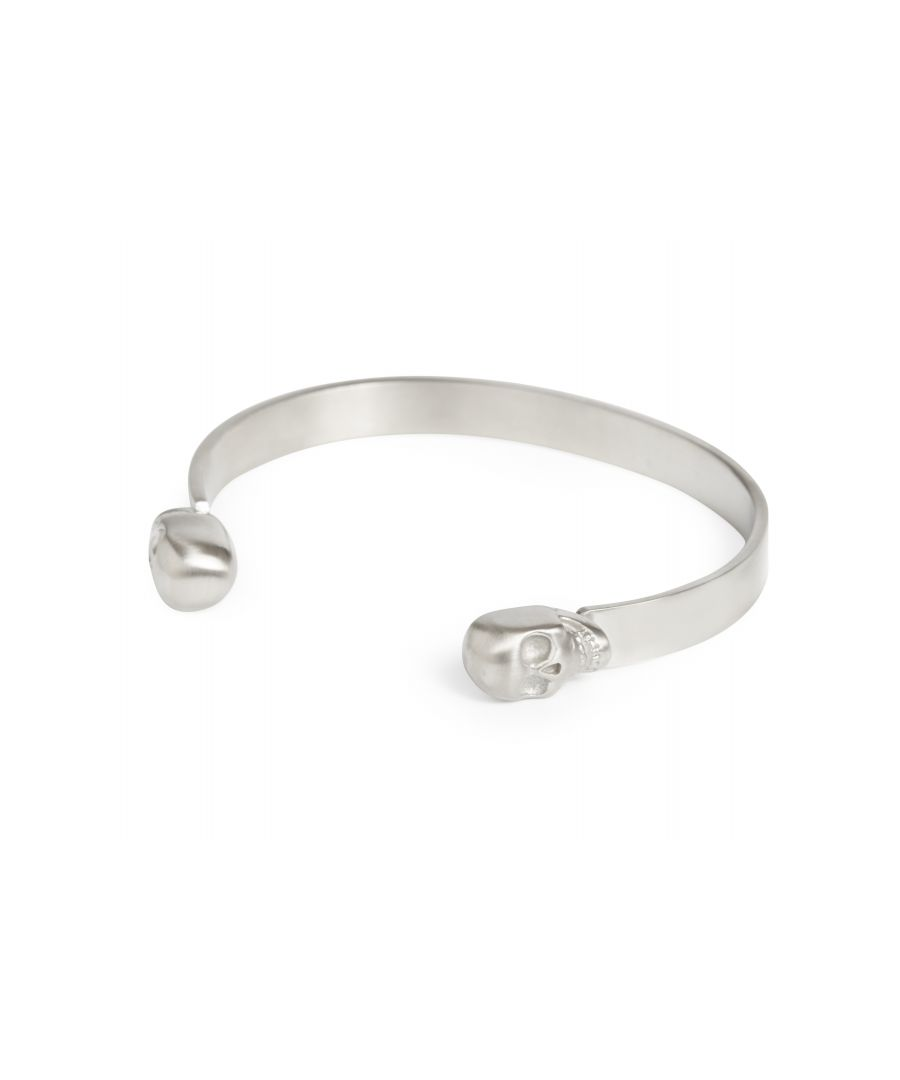 Image for DOUBLE SKULL BANGLE BRUSHED