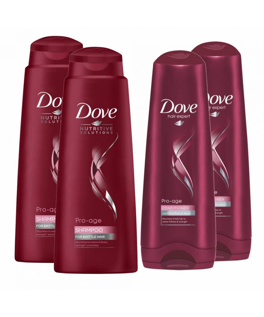 Image for Dove Hair Pro Age Shampoo 2 x 400ml & Conditioner 2 x 350ml