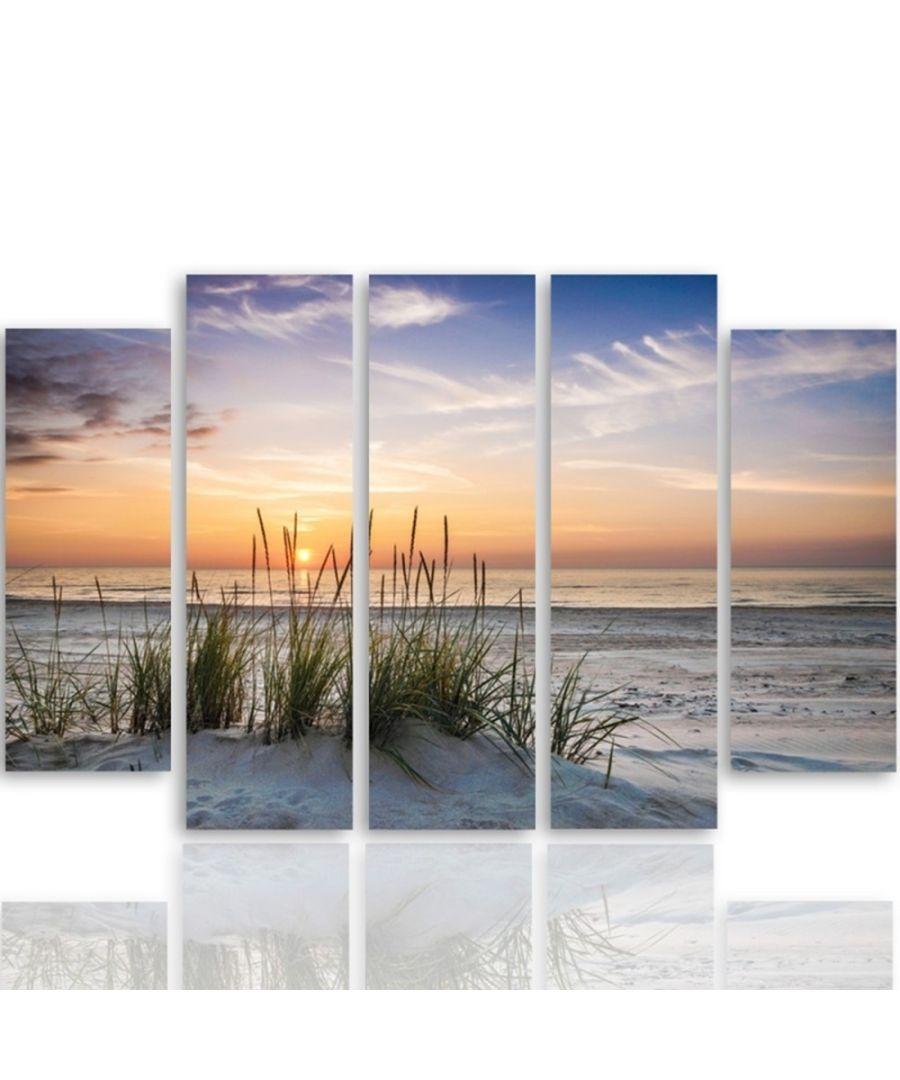 Image for Canvas Print - Pristine Dunes Cm. 150x100 (5 Panels)
