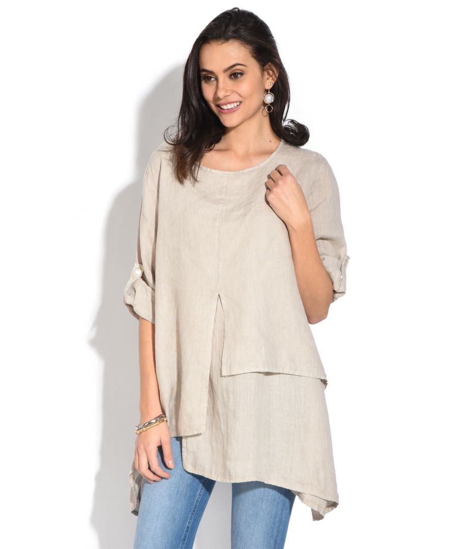 Image for Round collar Tunic with multiple layers