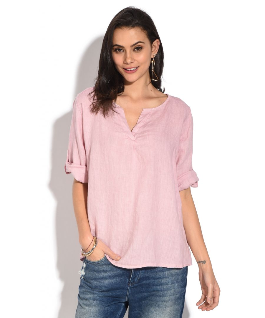 Image for Tunisian collar Top with long attachable sleeves