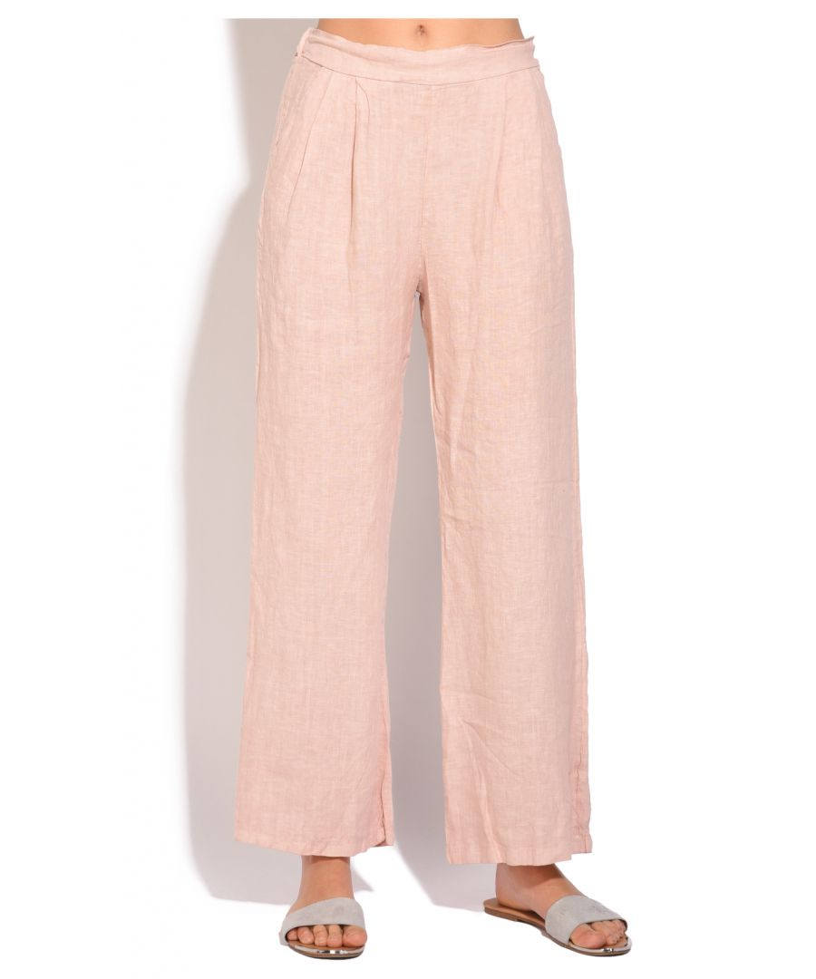 Image for Fluid straight cut Pant with pockets and elastic waistband