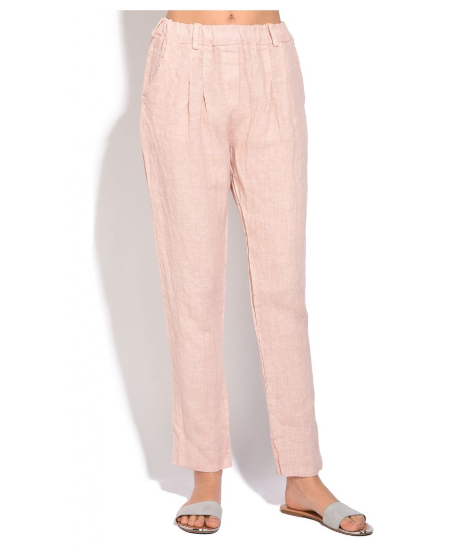 Image for Fluid fitted cut Pant with pockets and elastic waistband