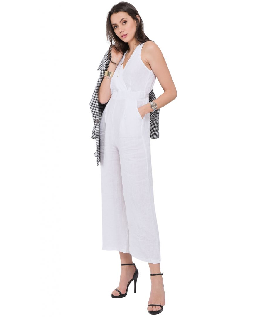 Image for Fake heart-cache Jumpsuit with back opening and pockets