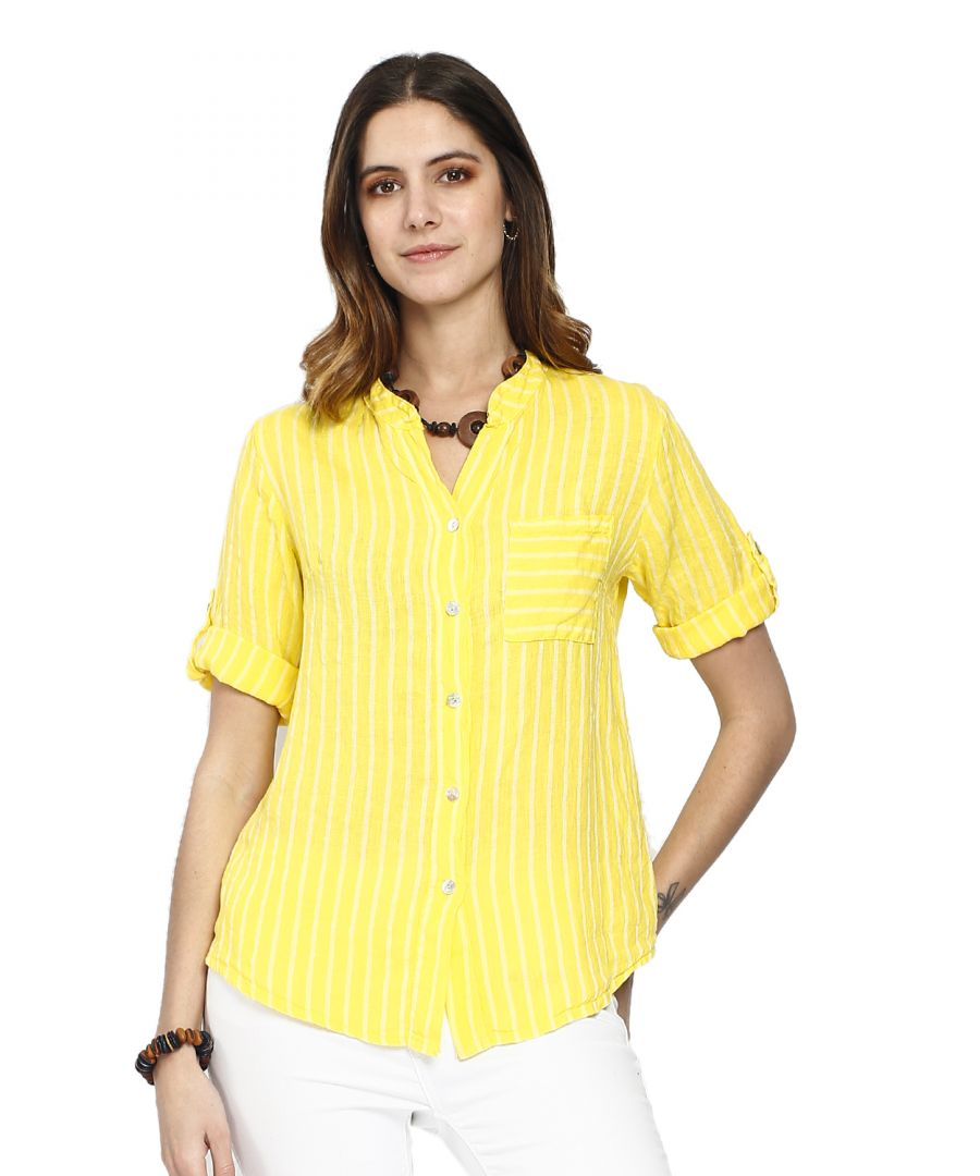 Image for Shirts Stripes Long sleeves pockets