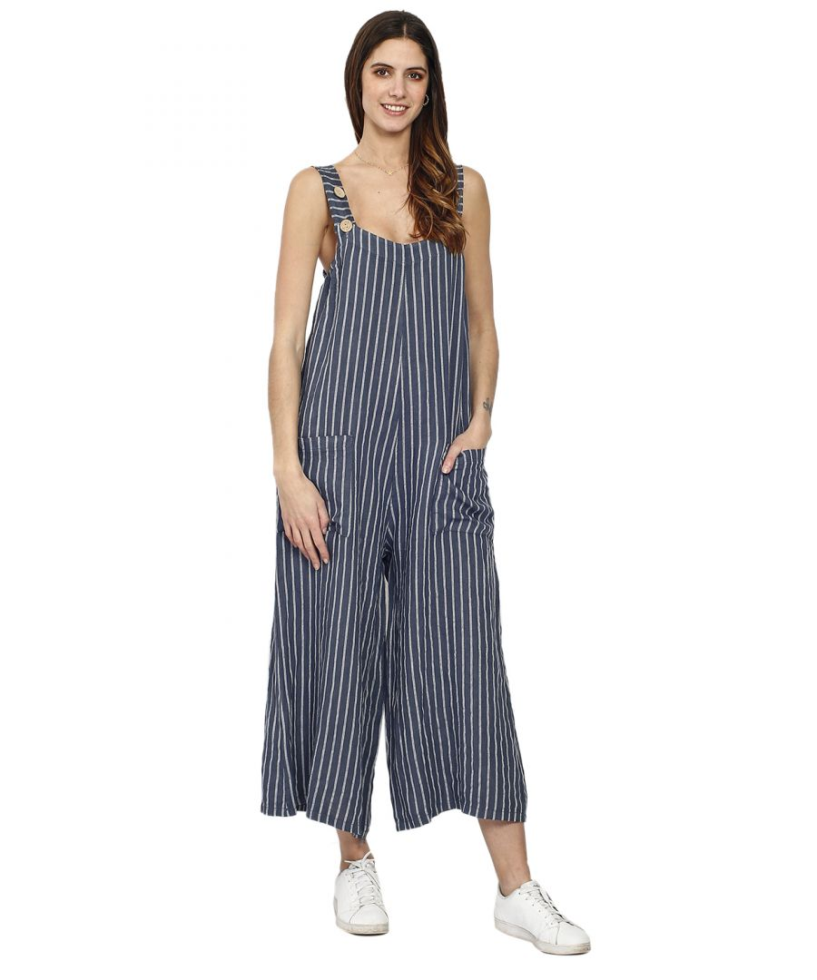 Image for Women's striped overalls