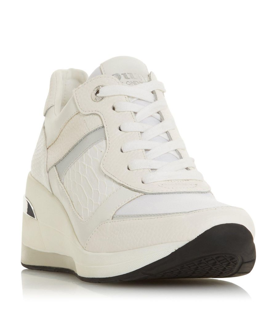 Image for Dune Ladies EASTON Round Toe Lace Up Trainer