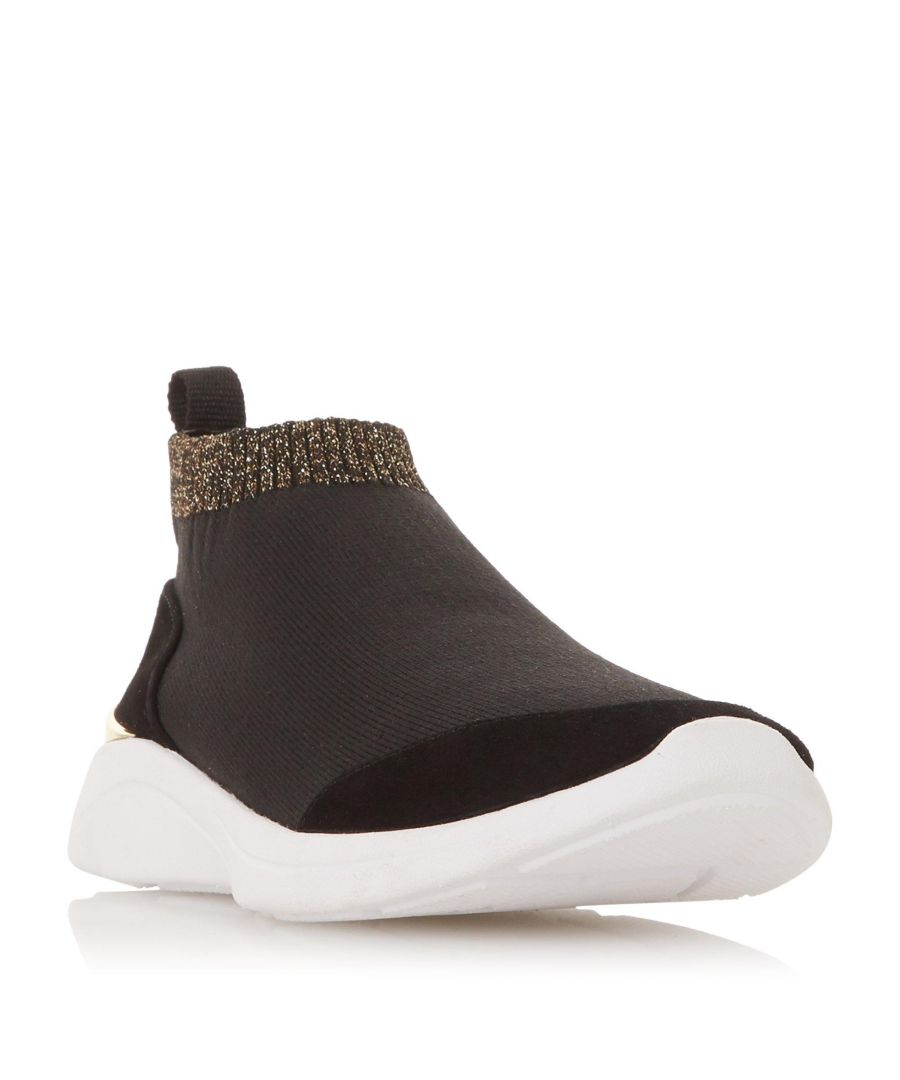 Image for Dune Ladies EASY SOCK BOOT Glitter Trim Sock Trainer