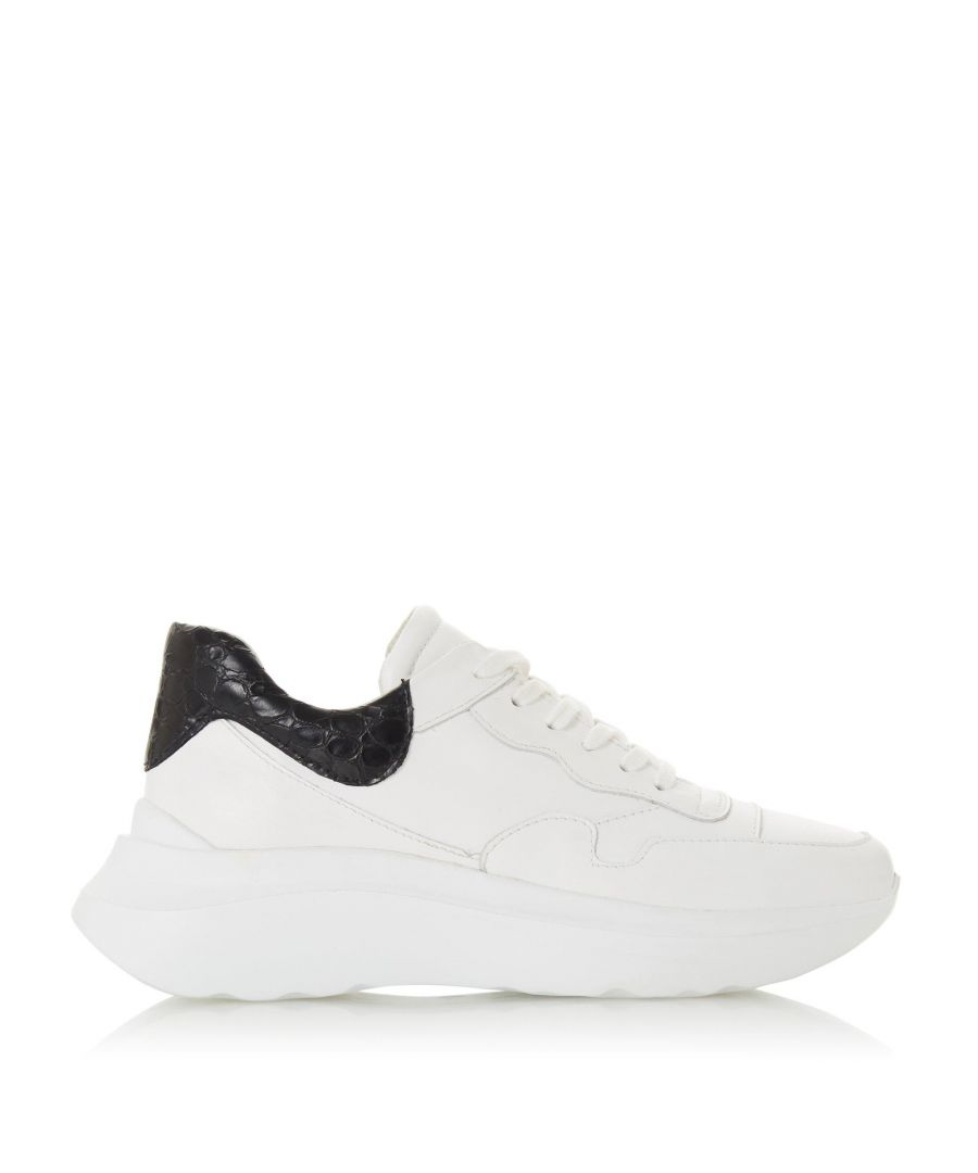 Image for Dune Ladies EBBEN DB Contrast Patch Trainers