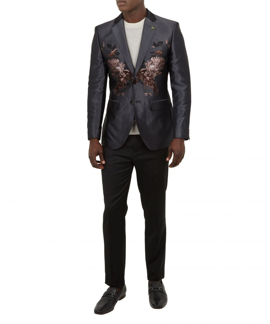 Image for Ted Baker Hiden Global Placement Jacquard Jacket, Grey