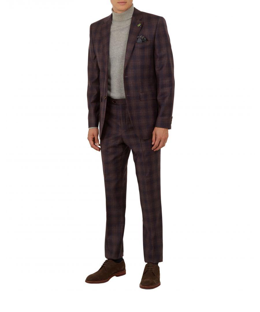 Image for Ted Baker Sakhaj Global Check Suit Jacket, Deep Pink