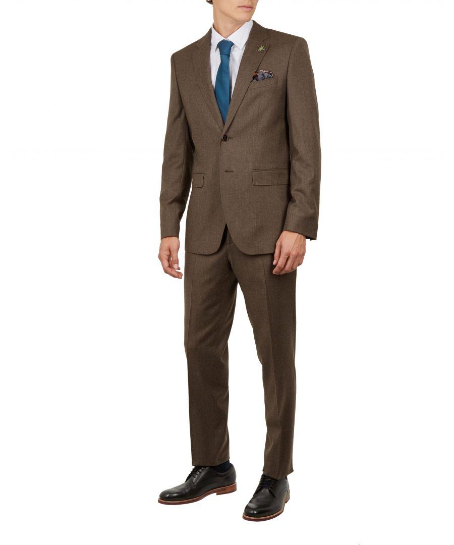 Image for Ted Baker Tumenj Global Flannel Suit Jacket, Taupe
