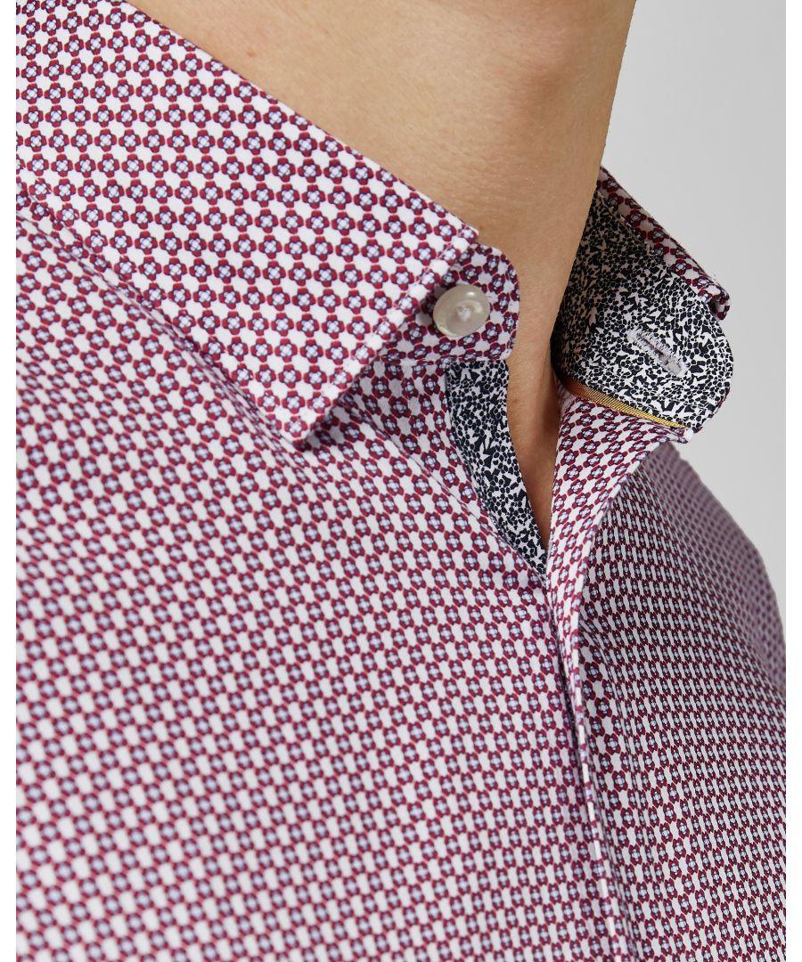 Image for Ted Baker Edde Long-Sleeved Two Tone Phormal Shirt, Purple