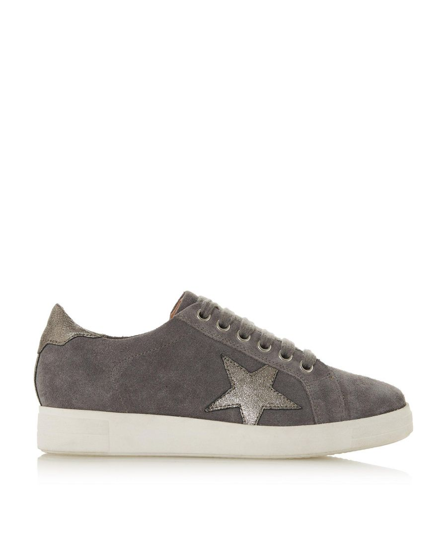 Image for Dune Ladies EDRIS Star Applique Lace Up Trainers