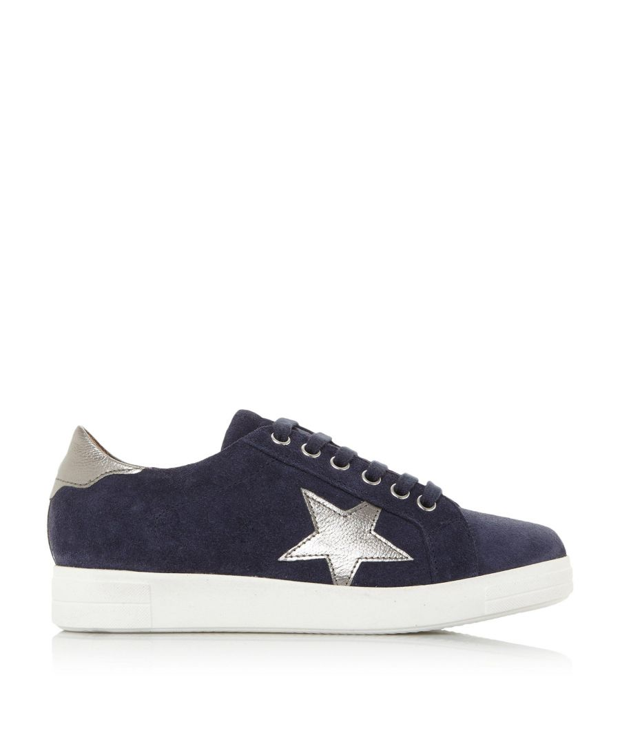 Image for Dune Ladies EDRIS S JL Star Embroidered Low Trainers