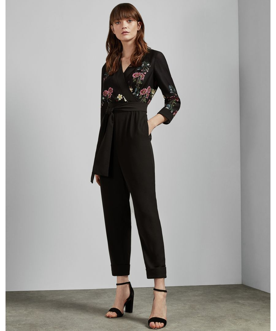 Image for Ted Baker Eleaann Oracle Turn Up Hem Jumpsuit, Black