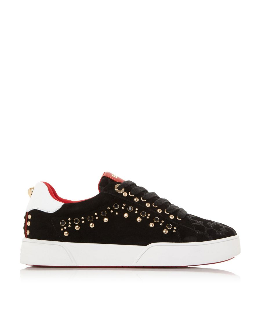 Image for Dune Ladies ELLISIA Suede Studded Trainers