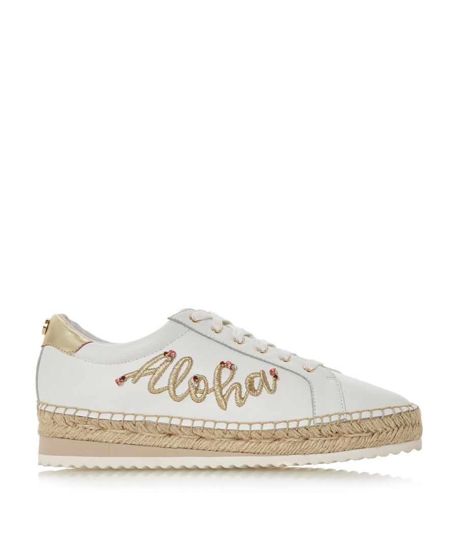 Image for Dune Ladies ELOHA Floral Embroidered Espadrille Trim Shoes