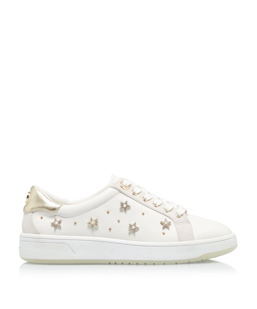 Image for Dune Ladies ELORA Star Stud Lace Up Trainers