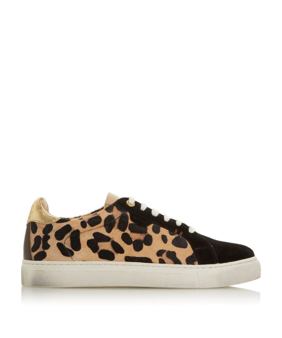 Image for Bertie Ladies EMBBER Leather Lace Up Trainers