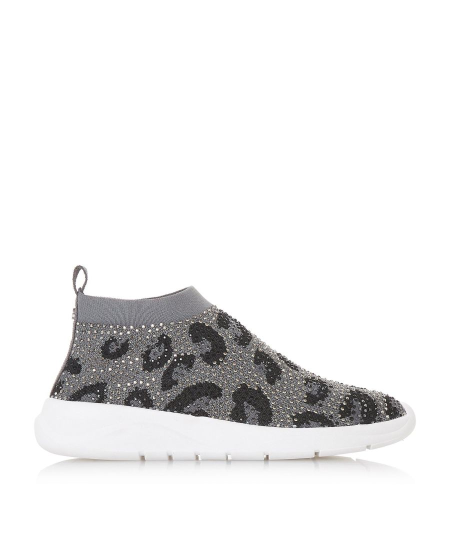 Image for Dune Ladies EMERALD LEOPARD Embellished Slip On Trainers