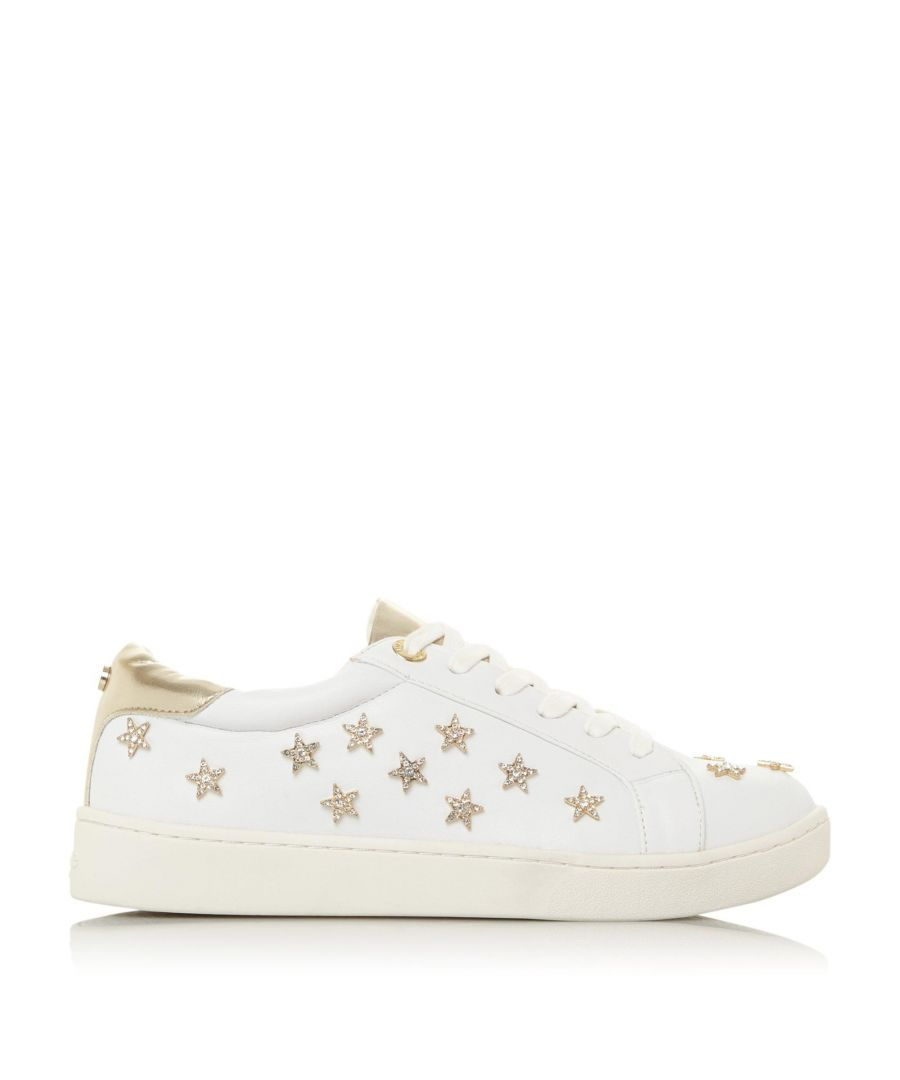 Image for Dune Ladies EMILIOH XX Star Embellished Trainers