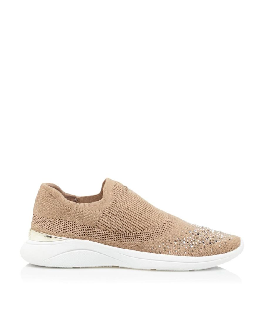 Image for Dune Ladies EMMALYN Diamante Woven Slip-On Trainers