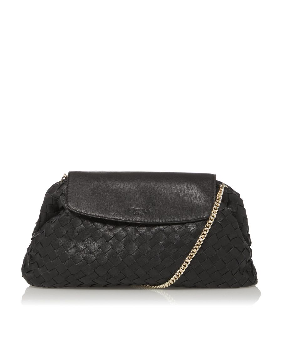 Image for Dune EMOREE Voluminous Woven Leather Clutch Bag