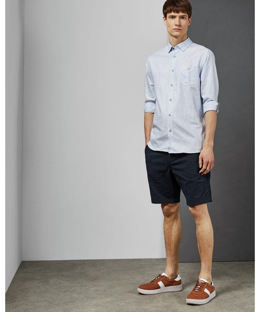 Image for Ted Baker Emuu Long-Sleeved Linen Shirt, Light Blue