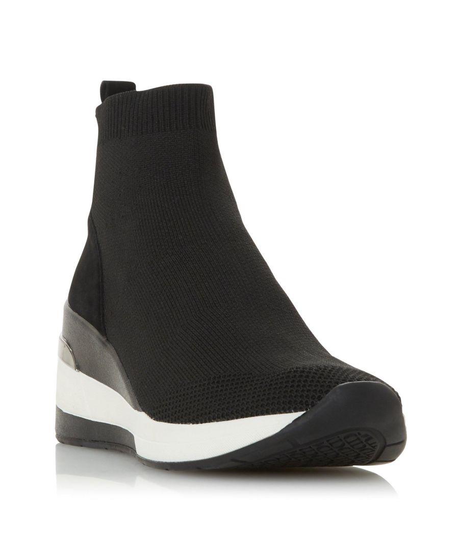Image for Dune Ladies ENGEL Mid Wedge Sock Trainer