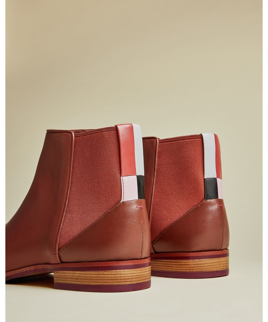 Image for Ted Baker Equiise Cbn Leather Chelsea Boot, Tan