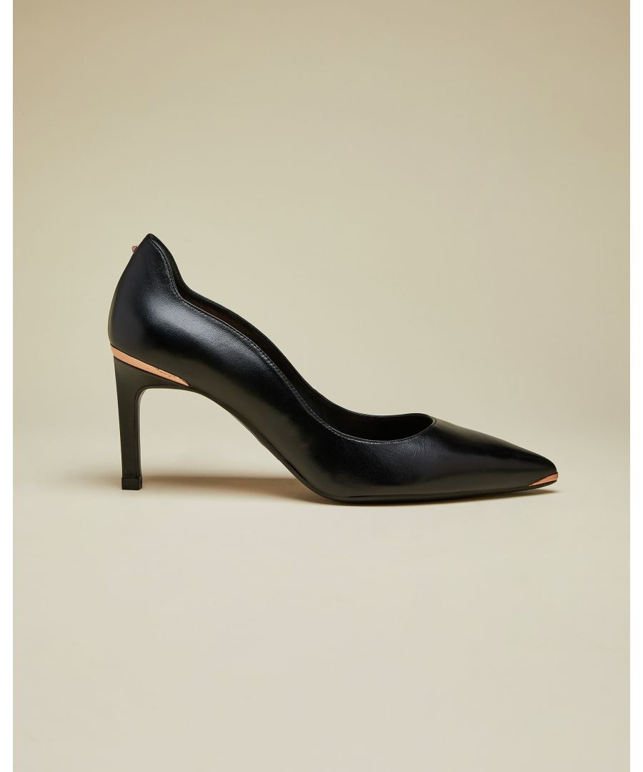 Image for Ted Baker Eriina Leather Court Shoes, Black