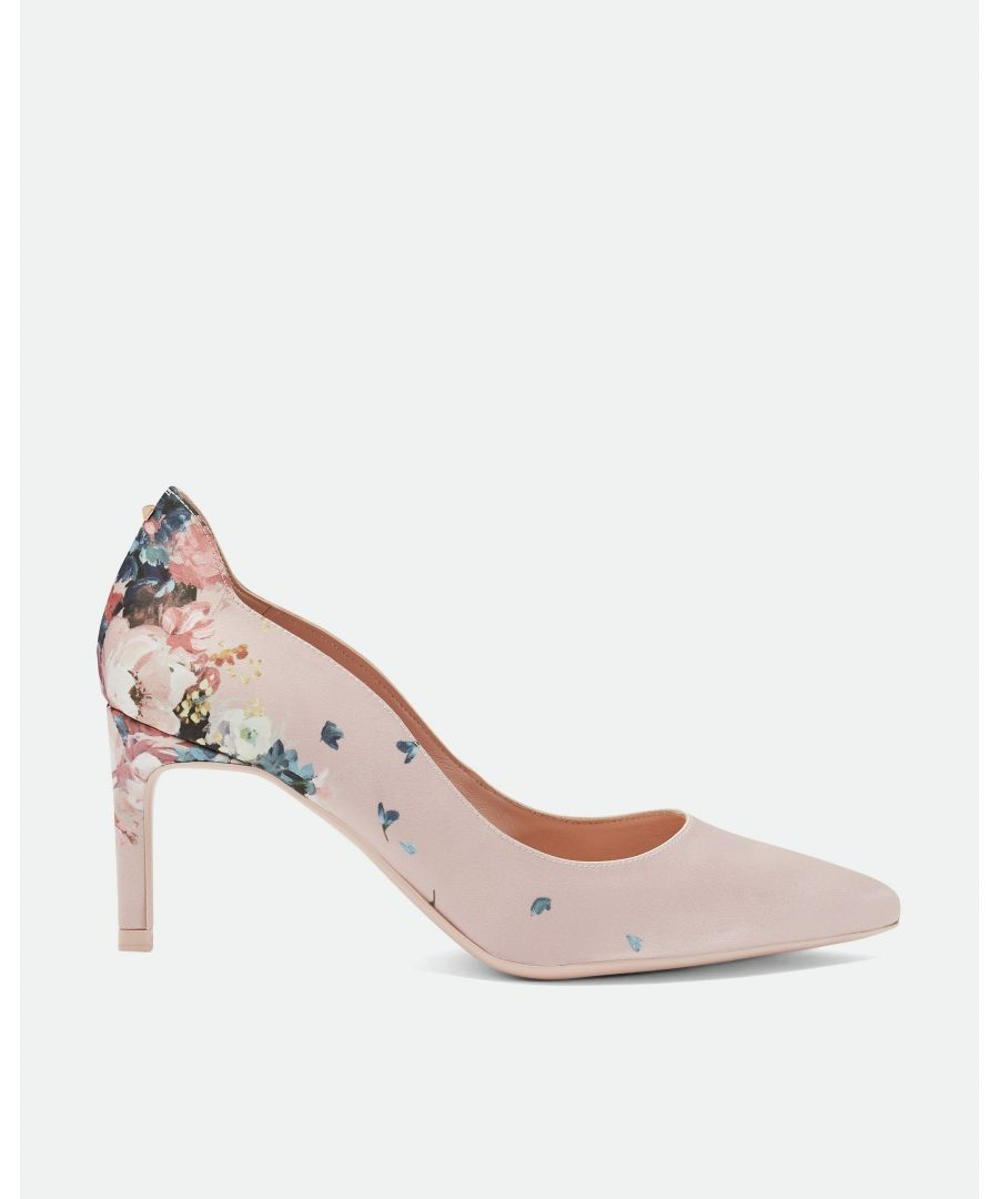 Image for Ted Baker Eriinp Printed Mid Heel Courts, Light Pink