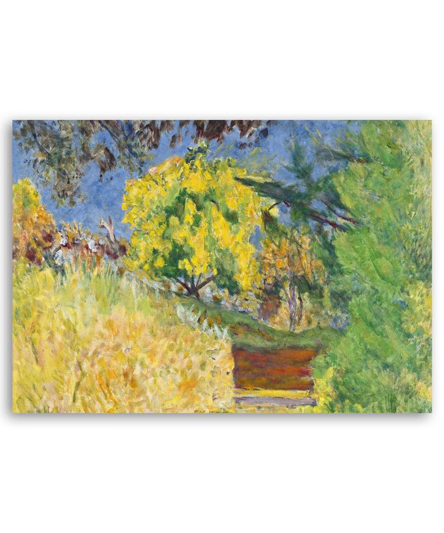 Image for Canvas Print - Escaliers Dans Le Jardin De L'Artiste - Pierre Bonnard Cm. 40x60
