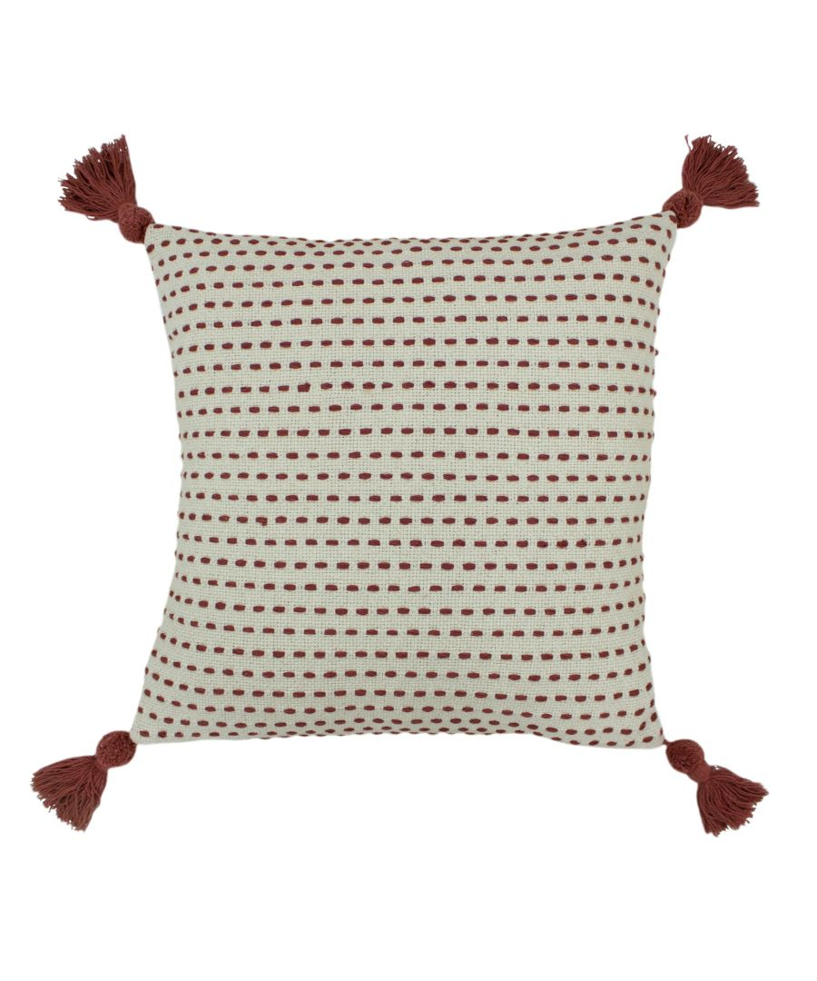 Image for Ezra 50X50 Poly Cushion Red Clay