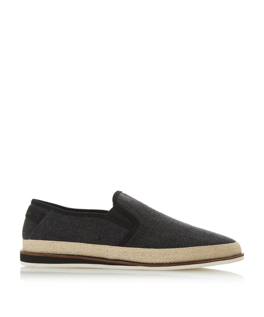 Image for Dune Mens FAB Washed Canvas Espadrille
