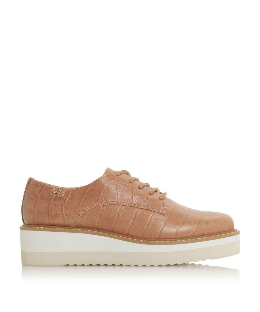 Image for Dune Ladies FALON Lace Up Flatform Shoes