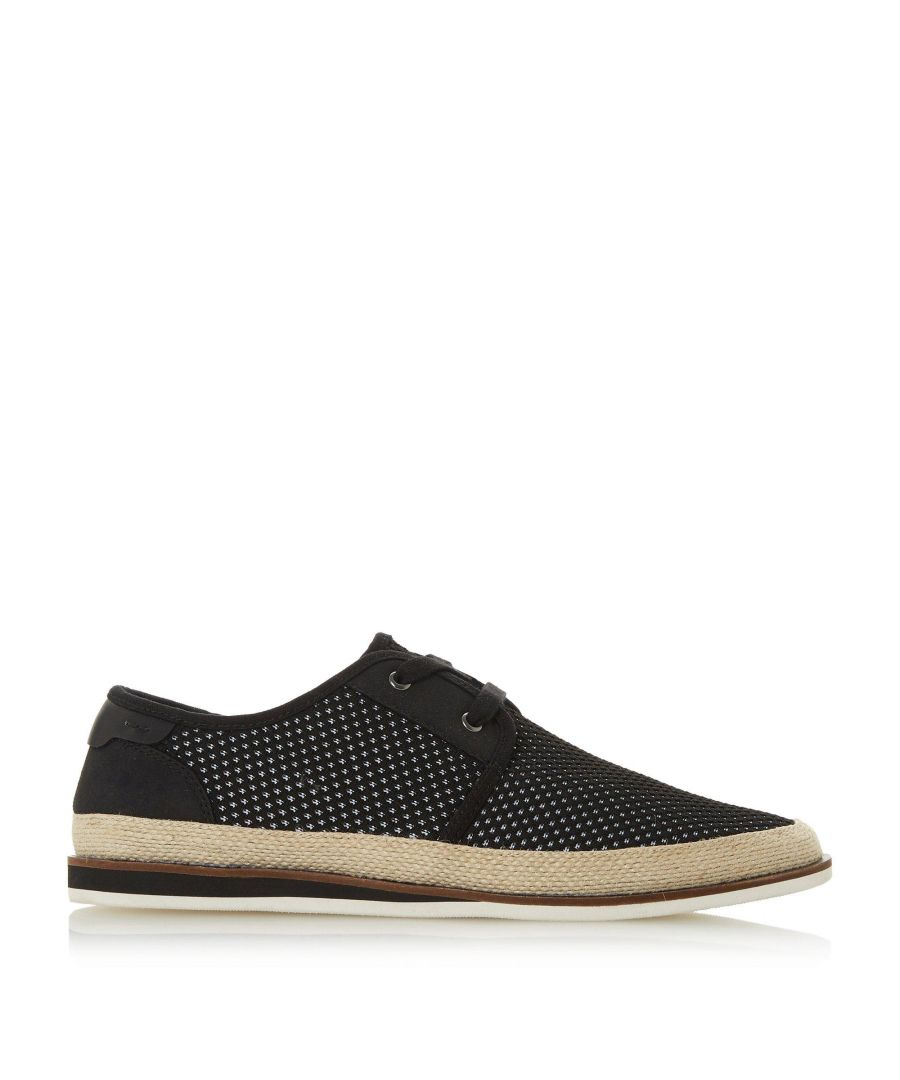 Image for Dune Mens FANTASTIC Perforated Lace Up Canvas Shoe