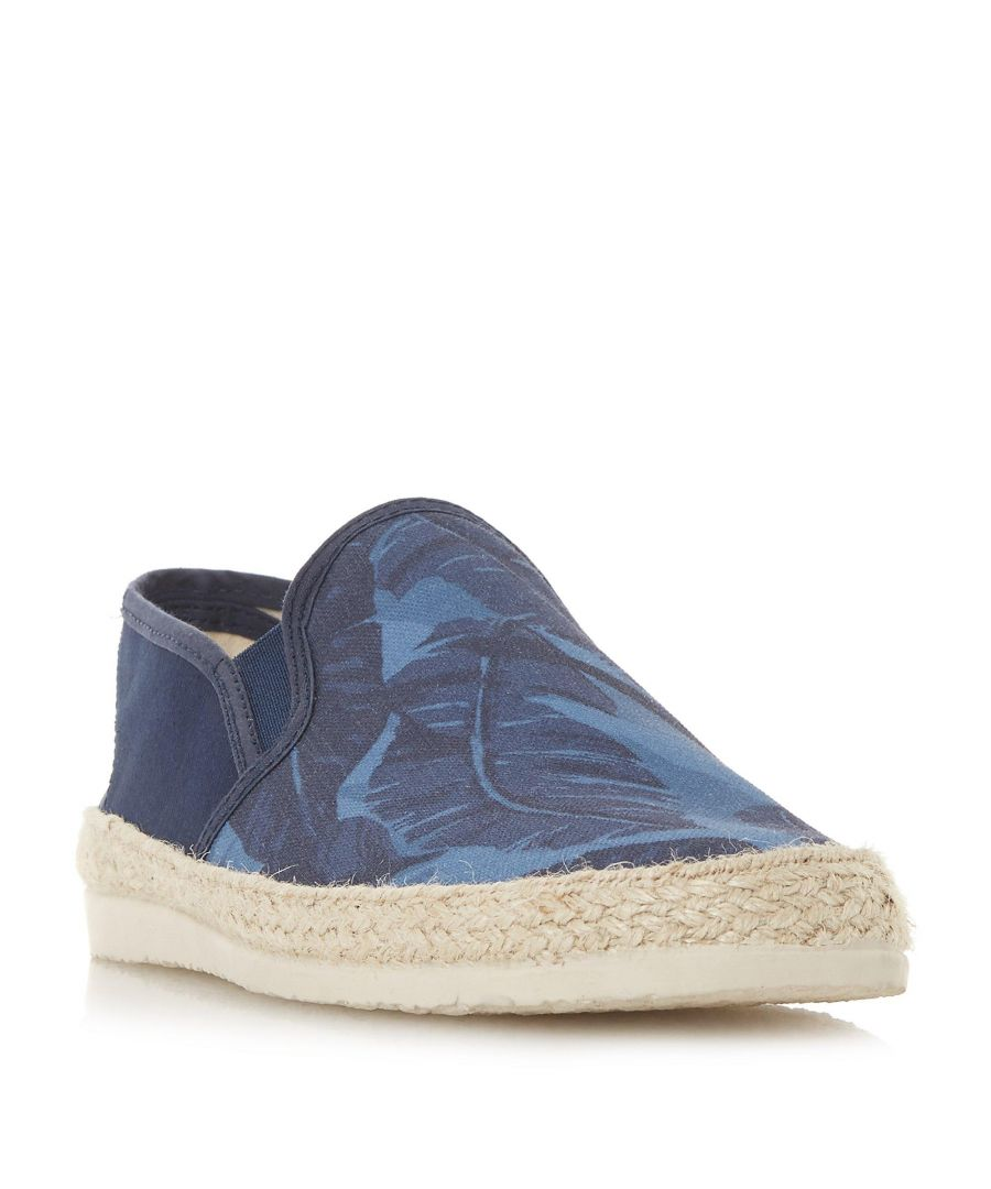 Image for Dune Mens FAZIO Palm Leaf Print Espadrille