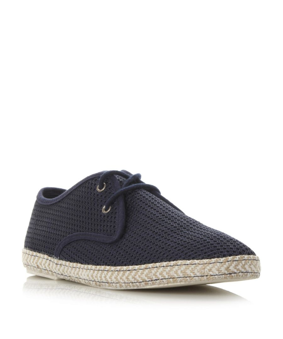 Image for Dune Mens FENNTON Canvas Mesh Lace-Up Espadrille