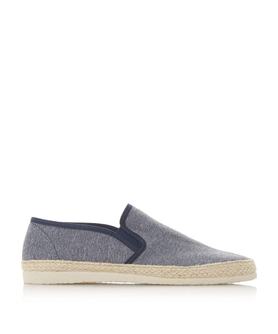 Image for Dune Mens FERDINAND Espadrilles Trim Canvas Shoes