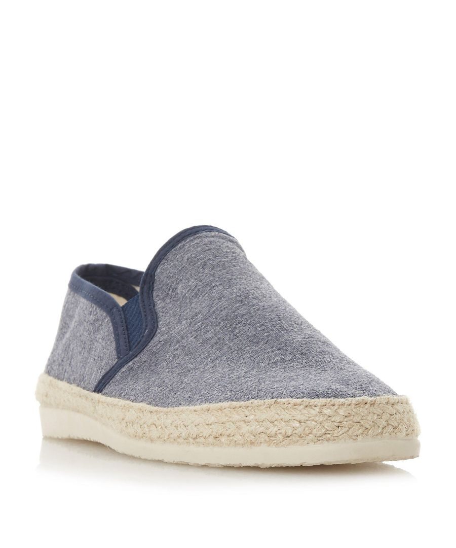 Image for Dune Mens FERDINAND Espadrilles Trim Canvas Shoe