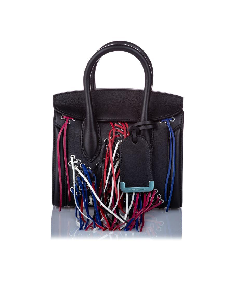 Image for Vintage Alexander McQueen Mini Leather Tassel Heroine Satchel Black