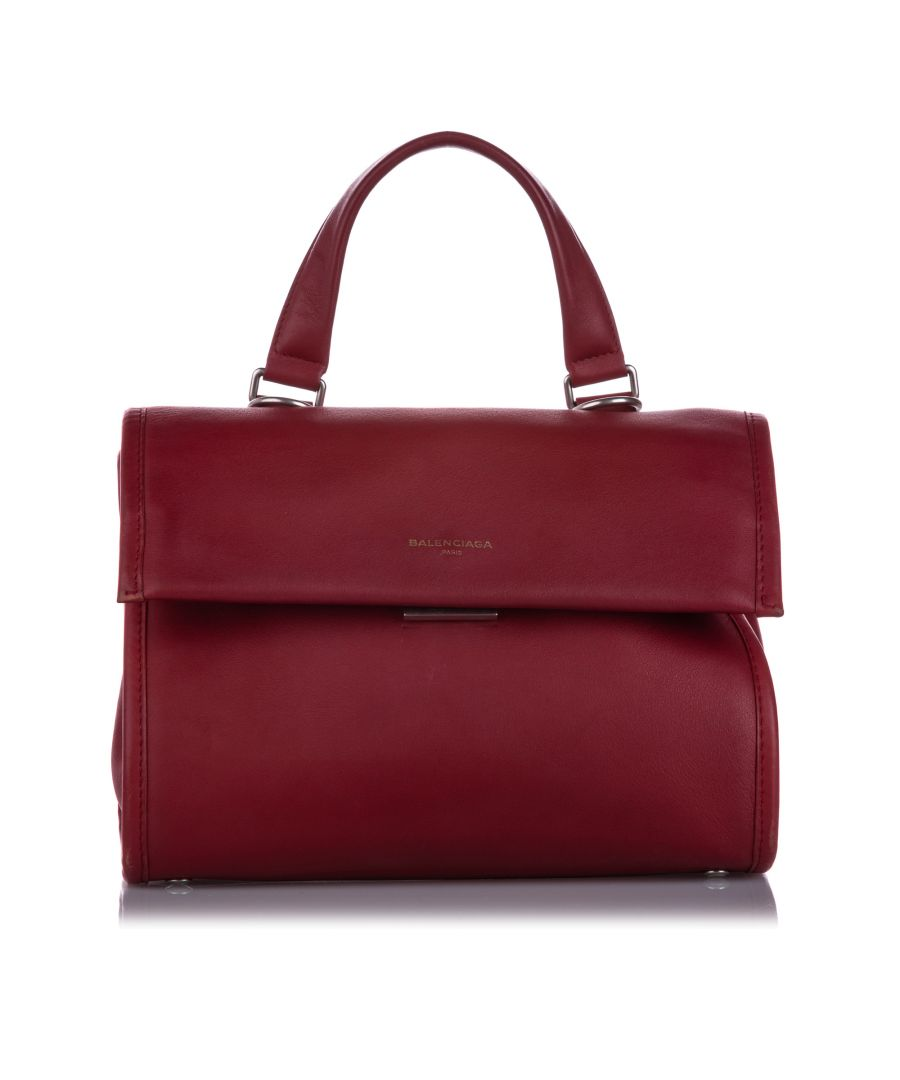 Image for Vintage Balenciaga Tools Leather Satchel Red