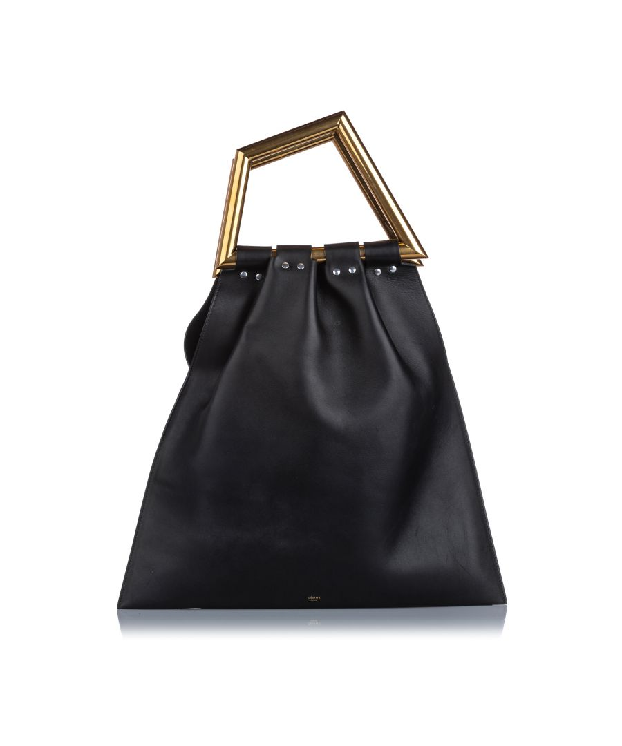 Image for Celine Triangle Open Sac Handbag Black
